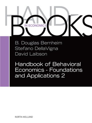 cover image of Handbook of Behavioral Economics--Foundations and Applications 2