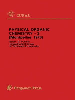 Physical Organic Chemistry Ebook