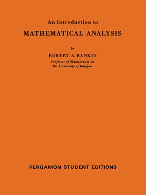 cover image of An Introduction to Mathematical Analysis