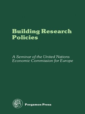 cover image of Building Research Policies