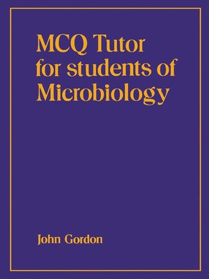 cover image of MCQ Tutor for Students of Microbiology
