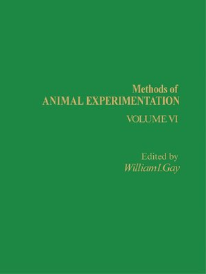 cover image of Methods of Animal Experimentation, Volume 6