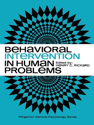cover image of Behavioral Intervention in Human Problems