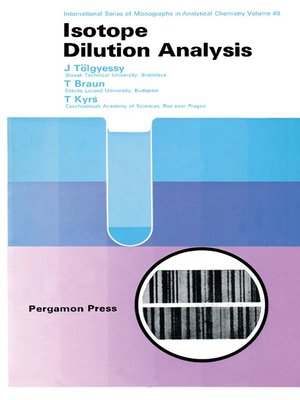cover image of Isotope Dilution Analysis