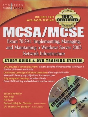 cover image of MCSA/MCSE Implementing, Managing, and Maintaining a Microsoft Windows Server 2003 Network Infrastructure (Exam 70-291)