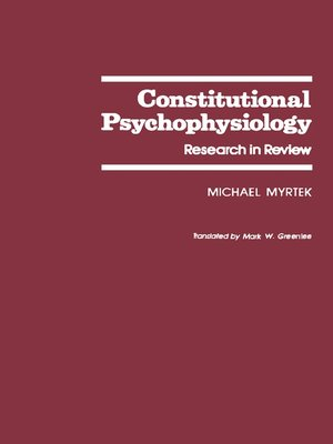 cover image of Constitutional Psychophysiology