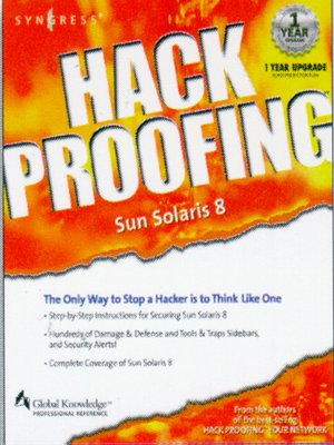 cover image of Hack Proofing Sun Solaris 8