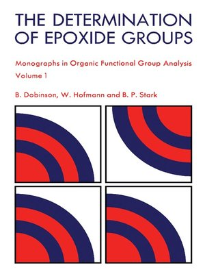 cover image of The Determination of Epoxide Groups