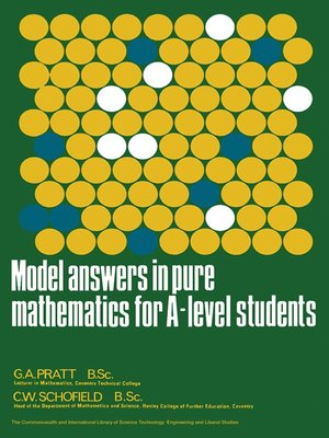 cover image of Model Answers in Pure Mathematics for A-Level Students