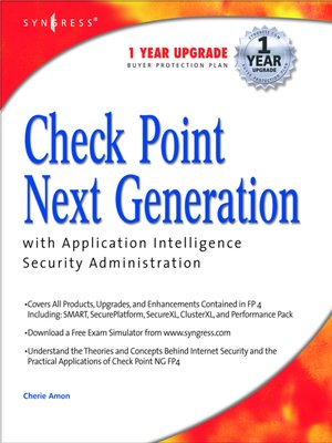 cover image of Check Point Next Generation with Application Intelligence Security Administration