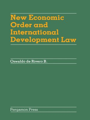 cover image of New Economic Order and International Development Law