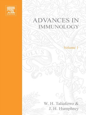 cover image of Advances in Immunology