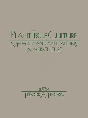 cover image of Plant Tissue Culture