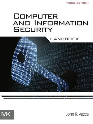 cover image of Computer and Information Security Handbook