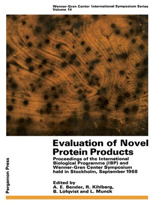 cover image of Evaluation of Novel Protein Products