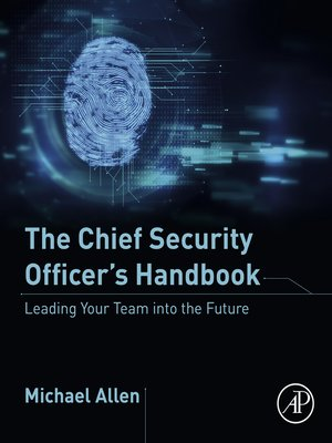 cover image of The Chief Security Officer's Handbook