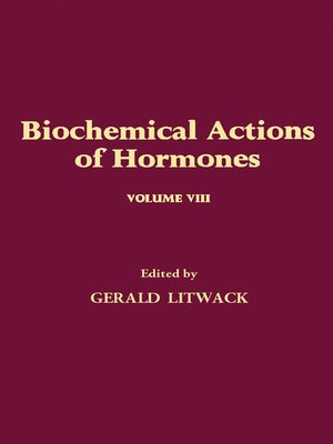 cover image of Biochemical Actions of Hormones, Volume 8