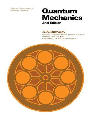 cover image of Quantum Mechanics - International Series in Natural Philosophy