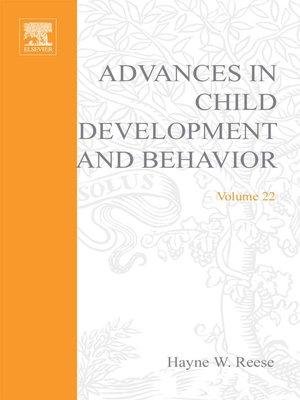 cover image of Advances in Child Development and Behavior