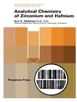 cover image of Analytical Chemistry of Zirconium and Hafnium