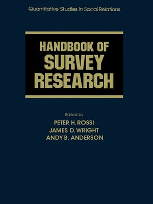 cover image of Handbook of Survey Research