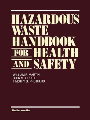 cover image of Hazardous Waste Handbook for Health and Safety