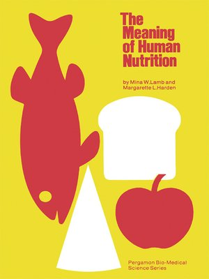 cover image of The Meaning of Human Nutrition