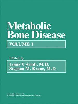 cover image of Metabolic Bone Disease, Volume 1