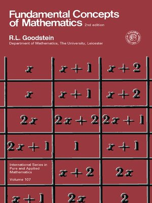 cover image of Fundamental Concepts of Mathematics