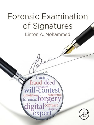 cover image of Forensic Examination of Signatures