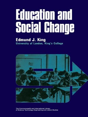 cover image of Education and Social Change