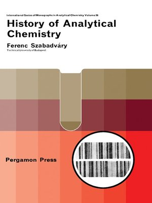 cover image of History of Analytical Chemistry