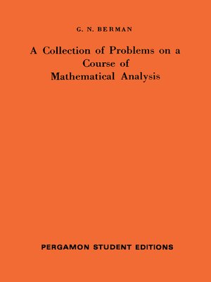 cover image of A Collection of Problems on a Course of Mathematical Analysis