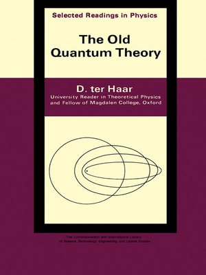 cover image of The Old Quantum Theory