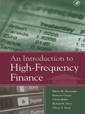 cover image of An Introduction to High-Frequency Finance