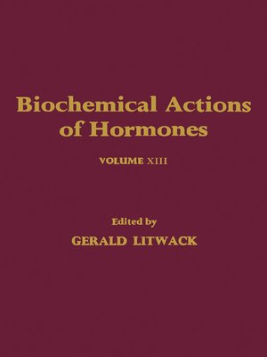 cover image of Biochemical Actions of Hormones, Volume 13