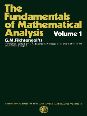 cover image of International Series in Pure and Applied Mathematics, Volume 72