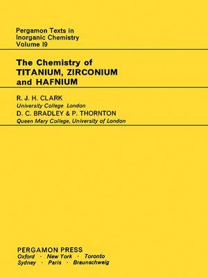 cover image of Pergamon Texts in Inorganic Chemistry