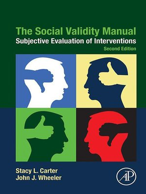 cover image of The Social Validity Manual