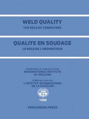 cover image of Weld Quality