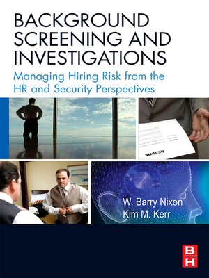 cover image of Background Screening and Investigations