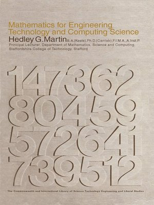 cover image of Mathematics for Engineering, Technology and Computing Science