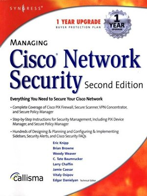 cover image of Managing Cisco Network Security