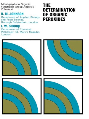 cover image of The Determination of Organic Peroxides