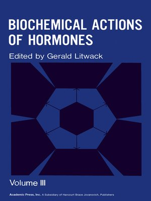 cover image of Biochemical Actions of Hormones, Volume 3