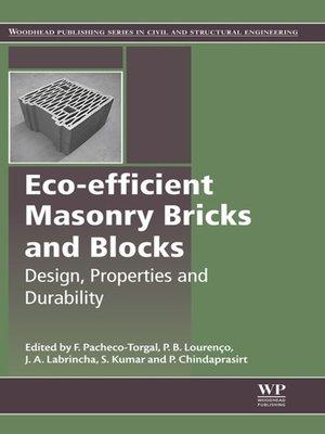 cover image of Eco-efficient Masonry Bricks and Blocks