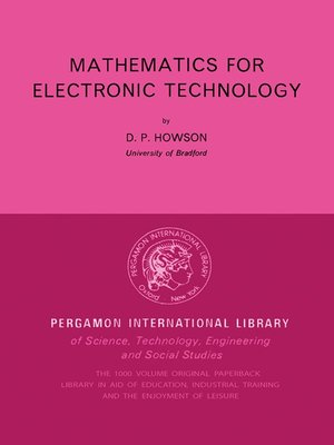 cover image of Mathematics for Electronic Technology