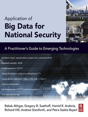 cover image of Application of Big Data for National Security