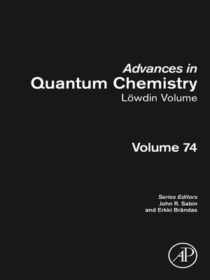 cover image of Advances in Quantum Chemistry, Volume 74