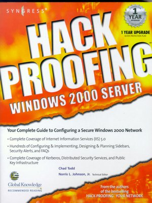 cover image of Hack Proofing Windows 2000 Server